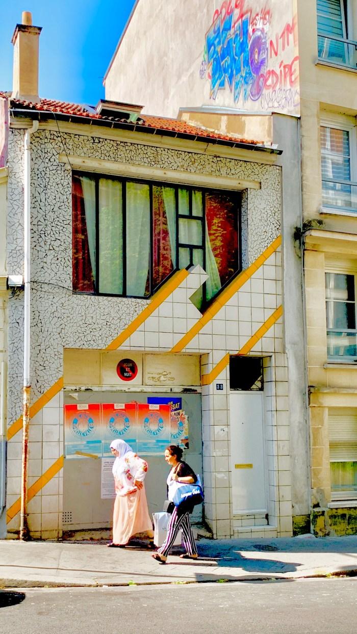 Striped tile building Belleville