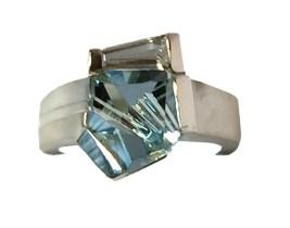 Deborah Aguado Ring Form 2015 Munsteiner cut stone