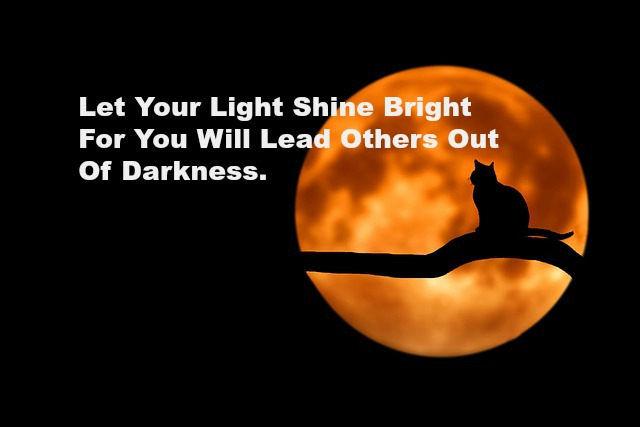 Let Your Light Shine Bright For You Will Lead Others Out Of Darkness.