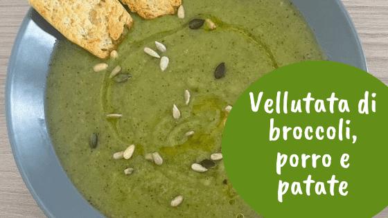 Vellutata di broccoli, porri e patate