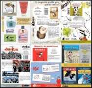 Varios ejemplos de fichas de producto (cómic e infantil)