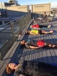 Savasana on rooftop