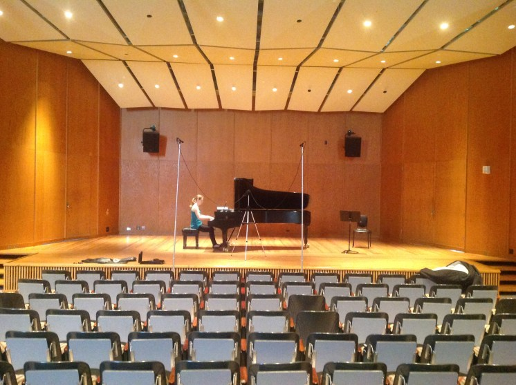 Recording in Britton Hall