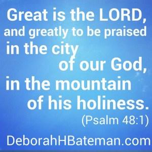 Psalm 48 1b