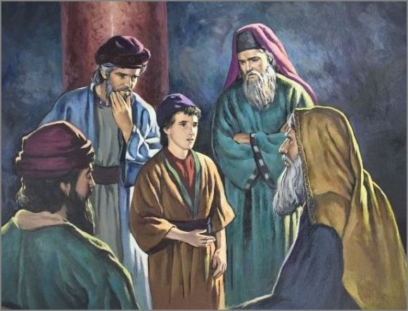 Image result for Picture of jesus the boy in the temple