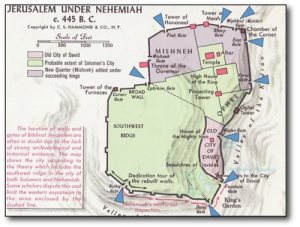 Nehemiah Map of Jerusalem 500