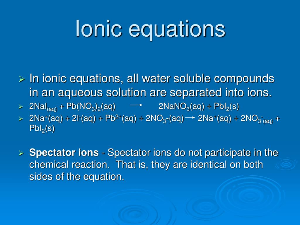 What Is A Net Ionic Equation Example