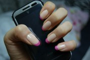 cute pink french nails spring