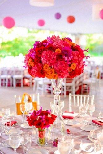 Tischdeko Hochzeit Orange Pink  Hochzeitsblog  Schweiz