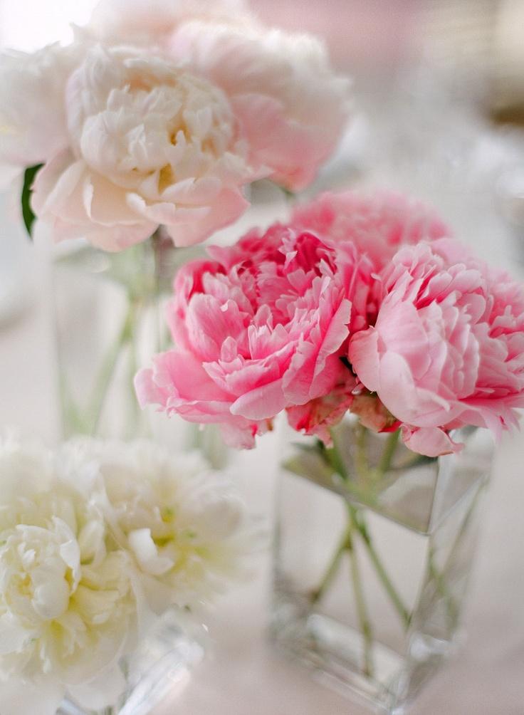 Tischdeko Hochzeit Pfingsrosen rosa pink  Hochzeitsblog