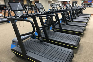 Exercise equipment with specialized devices.