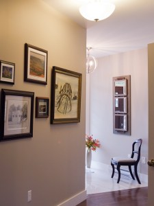 display all your artwork - salon-style