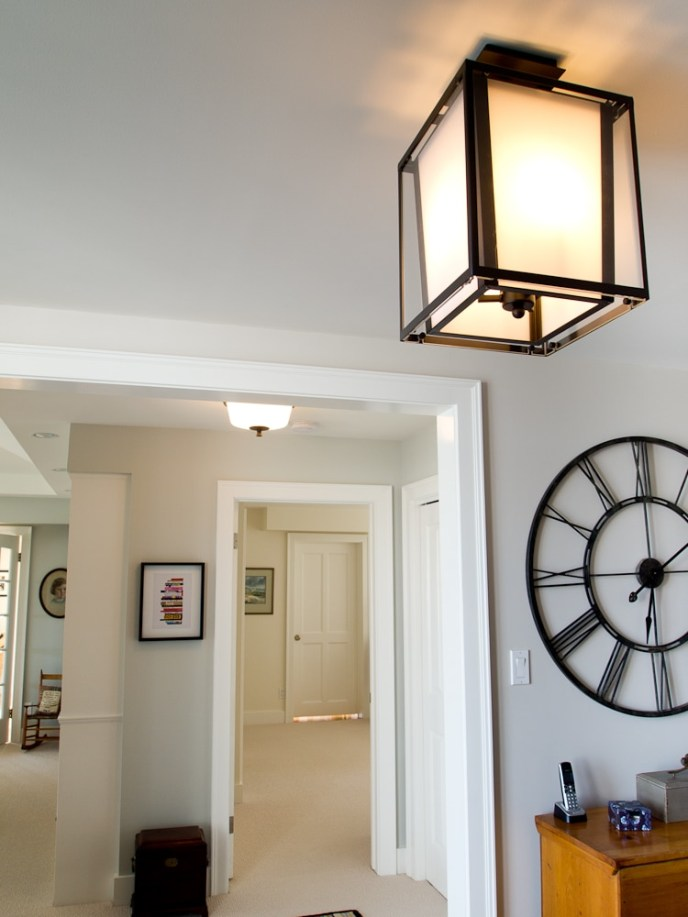 lantern in foyer
