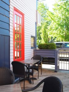 Outdoor Patio Naked Crepe Bistro, Wolfville