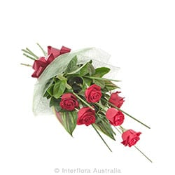 AFFECTION Bouquet of 6 long stem roses AUS 766 (red) AUS 767 (pink) AUS 768 (yellow)