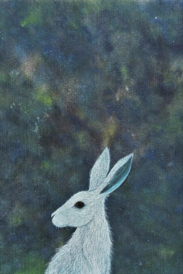 stargazing hare painting