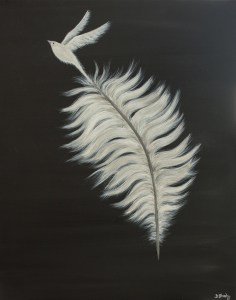 Feather for our Wings painting