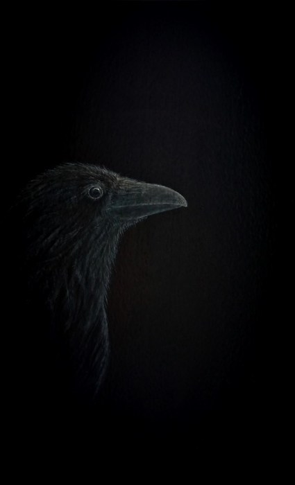 Only for You in silence does my soul wait - Raven painting - Psalm 62