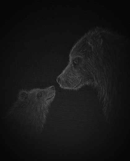Monochrome bear art