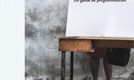 Un guide pour endiguer la violence à l'égard des femmes dans les élections