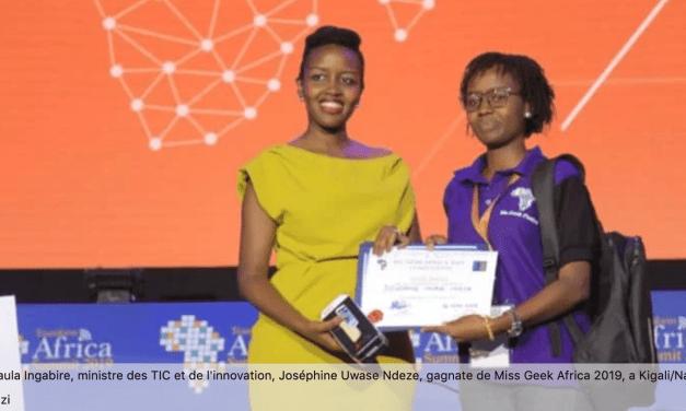 Joséphine Ndeze, inventeure d'une application pour surveiller l'évolution des grossesses