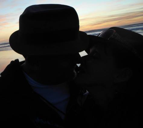 couple on beach sunset marriage
