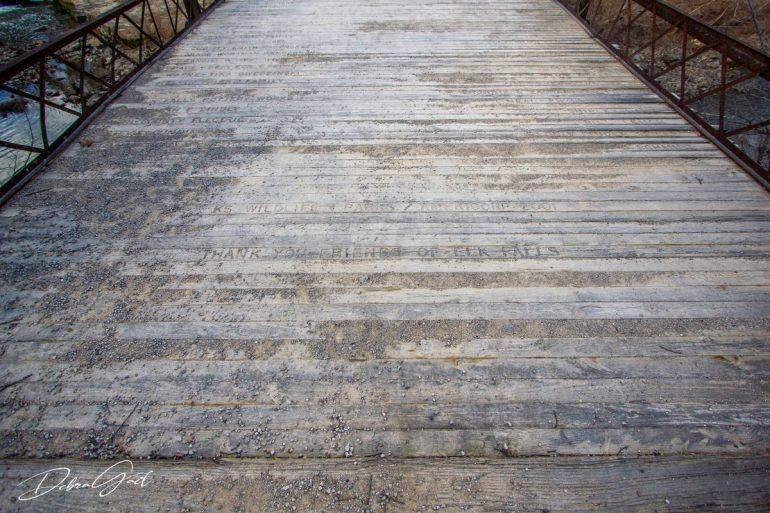elk falls bridge new deck