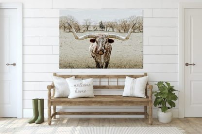 texas longhorn wall art