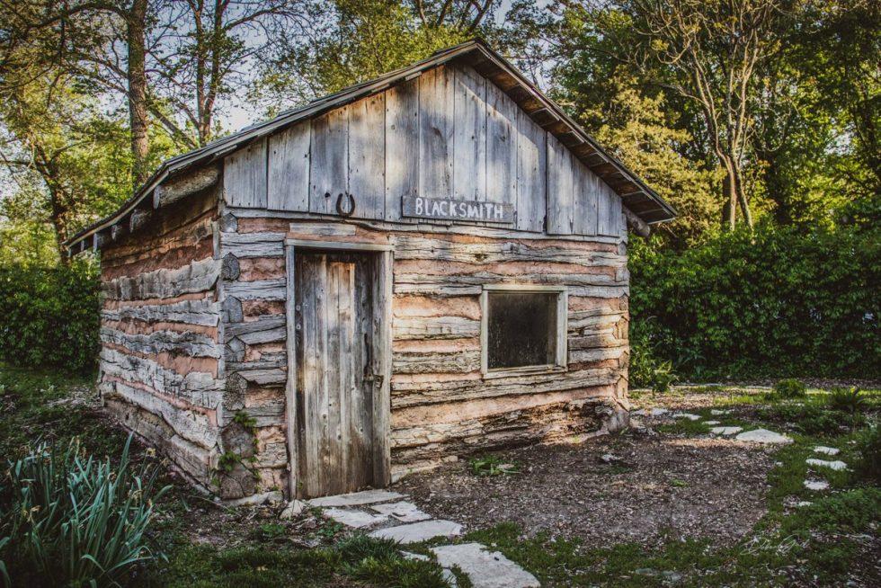 Old Log Cabin 1854 Blacksmith Shop 0475