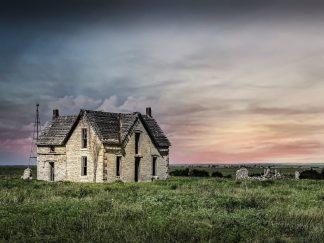 native stone Flint Hills Stone House