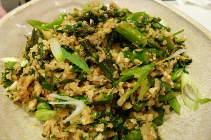 Cauliflower Rice with Asparagus