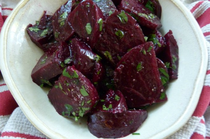 Roasted Beets with Vinaigrette