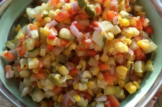 Israeli Corn + Pickle Salad