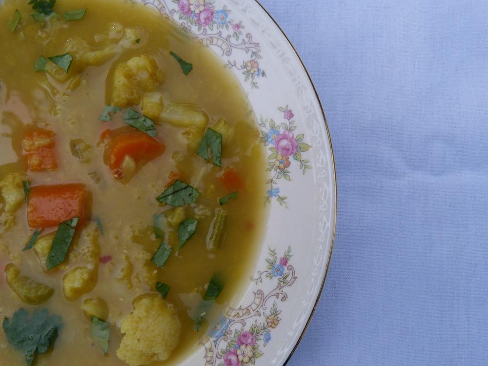 Cauliflower Red Lentil Soup