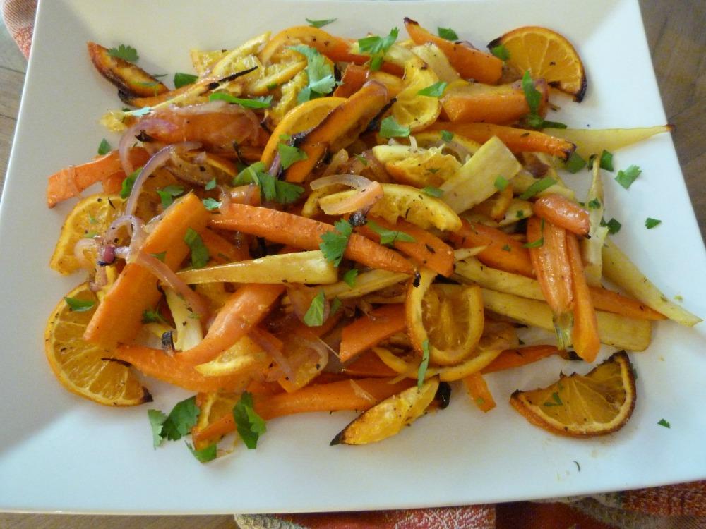 Roasted Root Veggies with Oranges