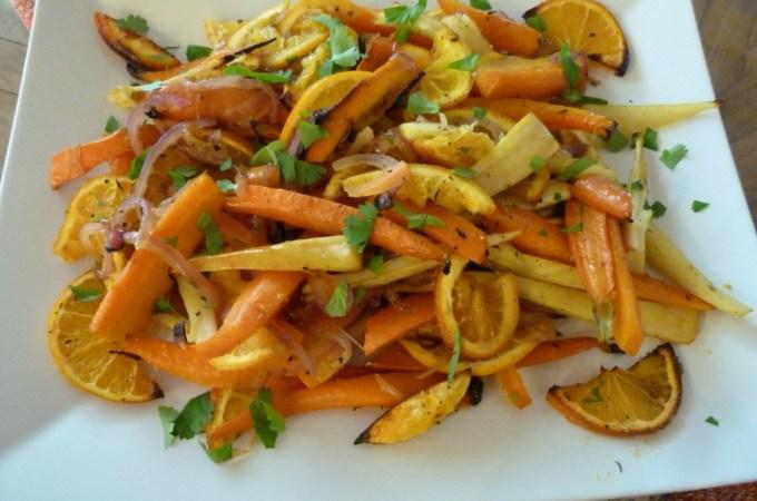 Roasted Root Vegetables + Oranges