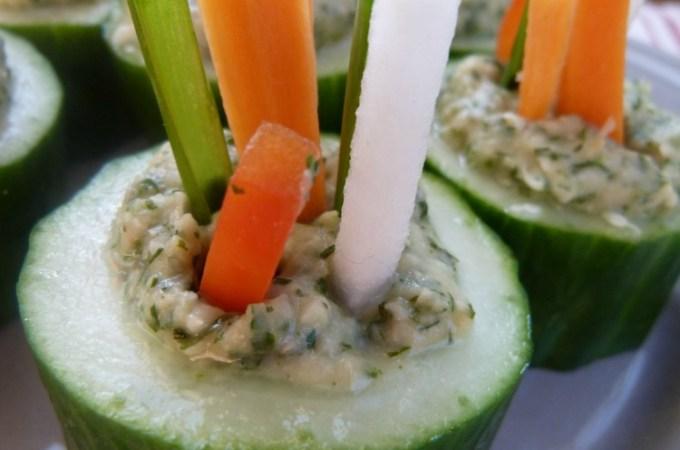 White Bean and Garlic Herb Dip