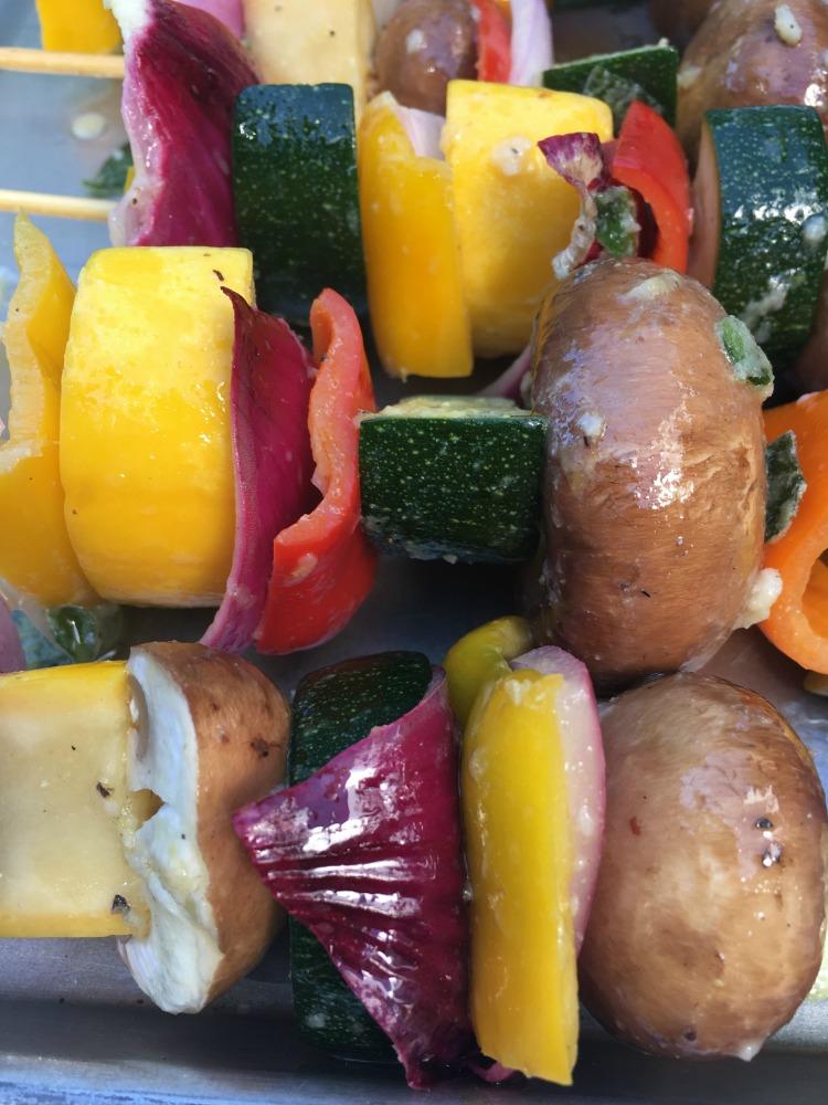 Mediterranean Grilled Veggie Kabobs