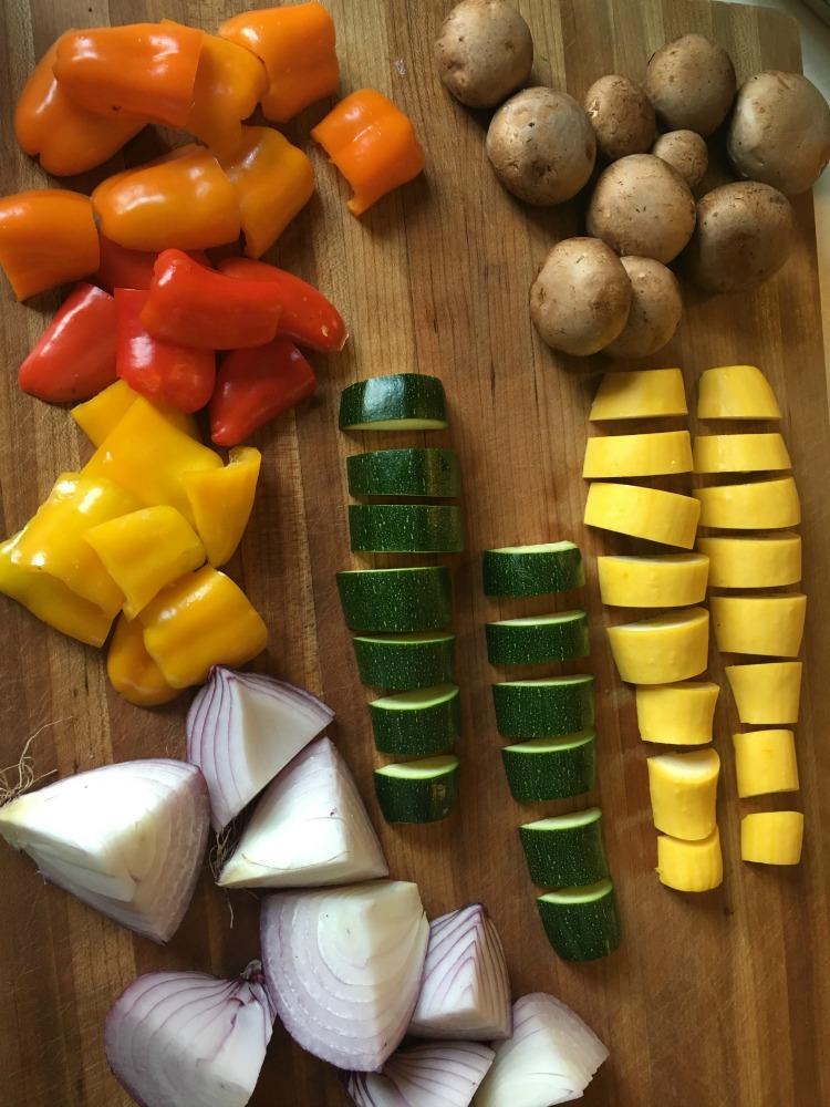 Veggies for kabobs