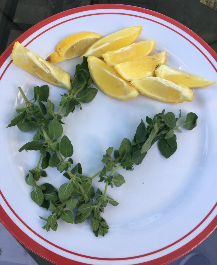 Mediterranean flavors enhance these veggie kabobs.