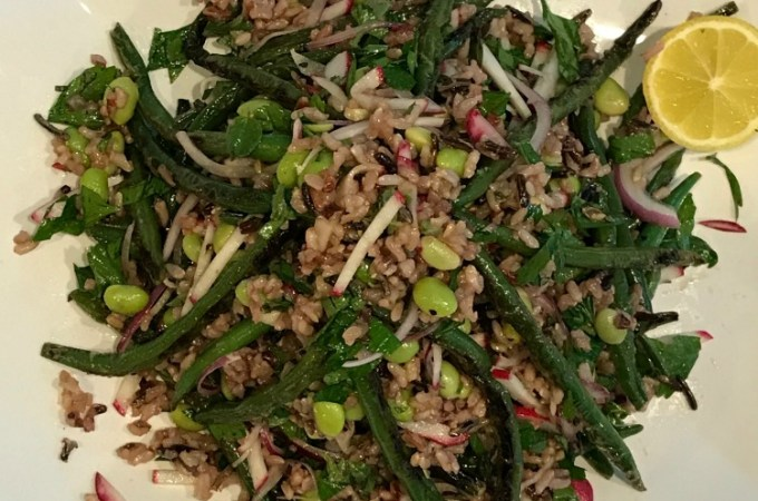 Blistered Green Bean and Wild Rice Salad