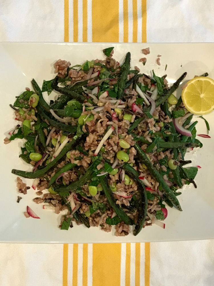 Fresh Herbs, Blistered Green Beans and Wild Rice Salad