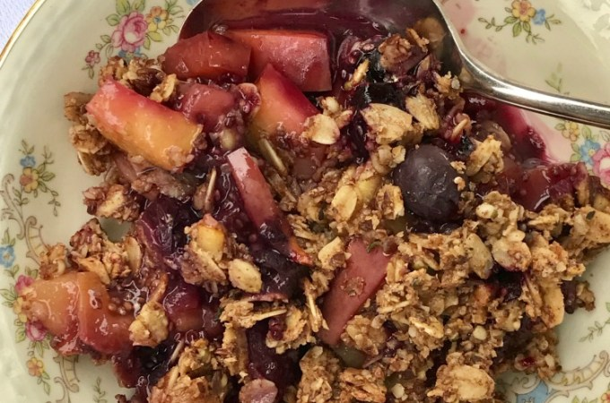 Healthy Fruit Crisp