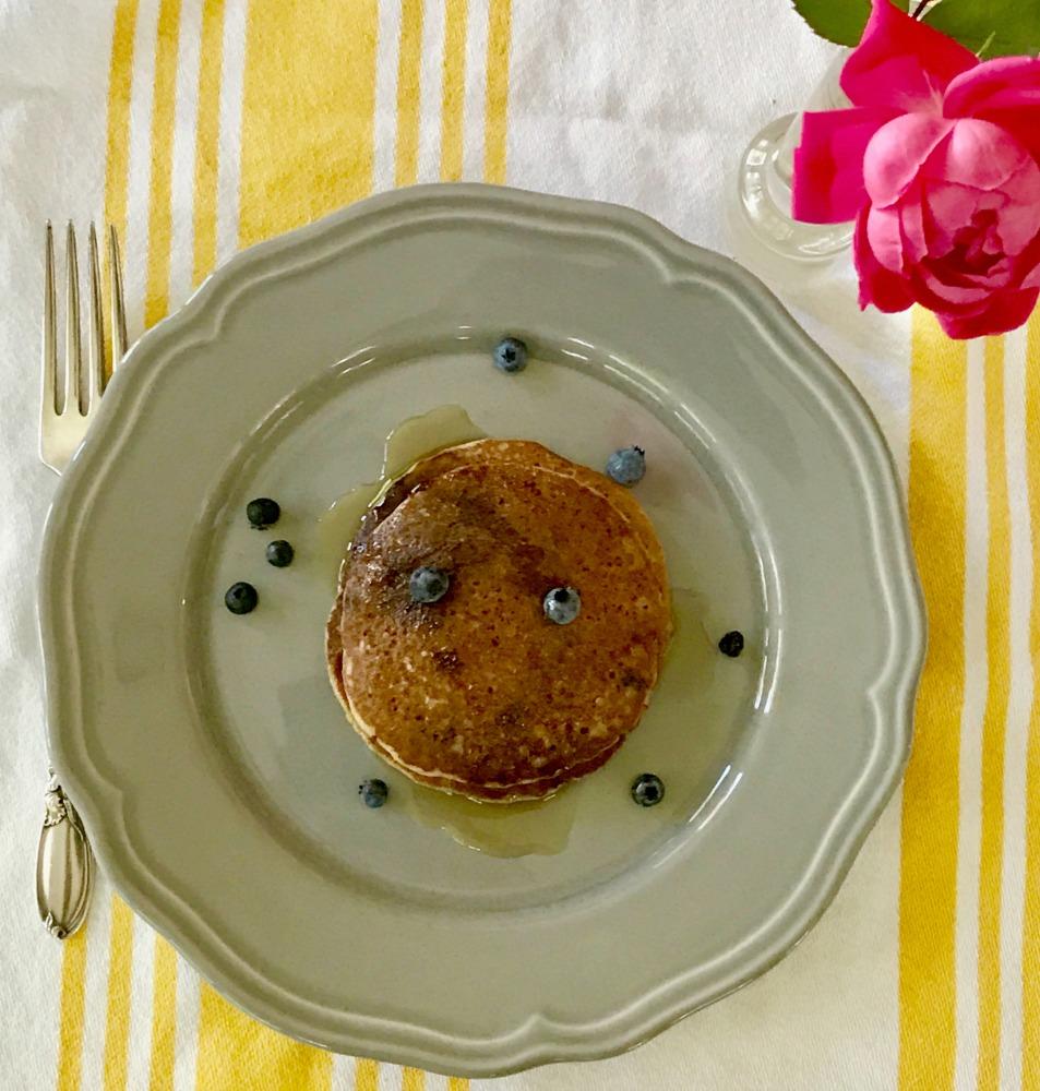 Gluten-free pancakes. Healthy. Vegan. Refined sugar-free