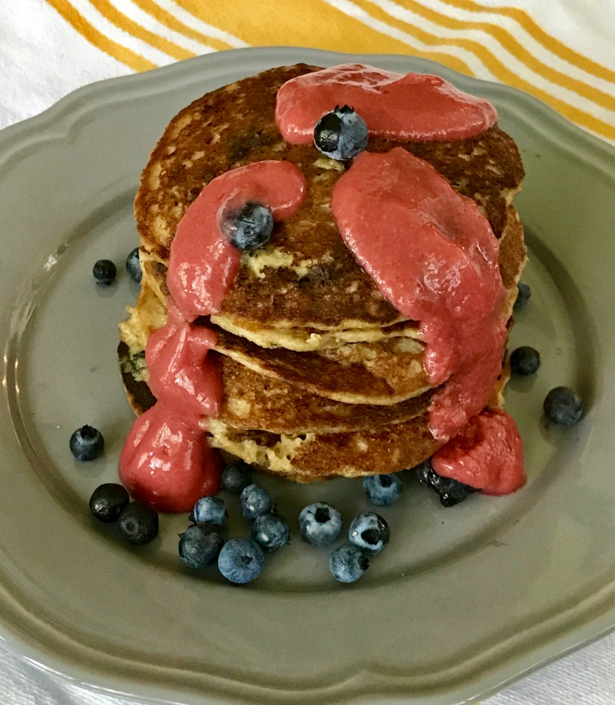 Gluten-free pancakes. Refined sugar-free.