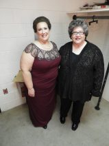 Judy and me: pre-performance dressing room pic
