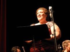 Judy Marlett, mezzo-soprano is a very animated soloist