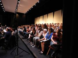 """Hundreds in the chorus for """"Family Portrait"""" dress rehearsal"""