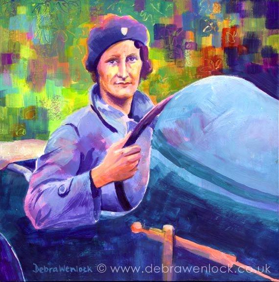 Billy Wiz - Mrs Elsie Wisdom painting in acrylic by Debra Wenlock