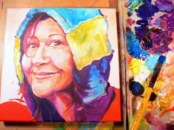 Nem Portrait in progress by Debra Wenlock